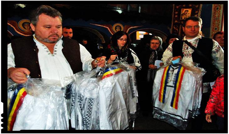 Vinovat că împreună cu frații și surorile mele am dăruit costume naționale copiilor români din Covasna și Harghita, Foto: Facebook / Mihai Tirnoveanu