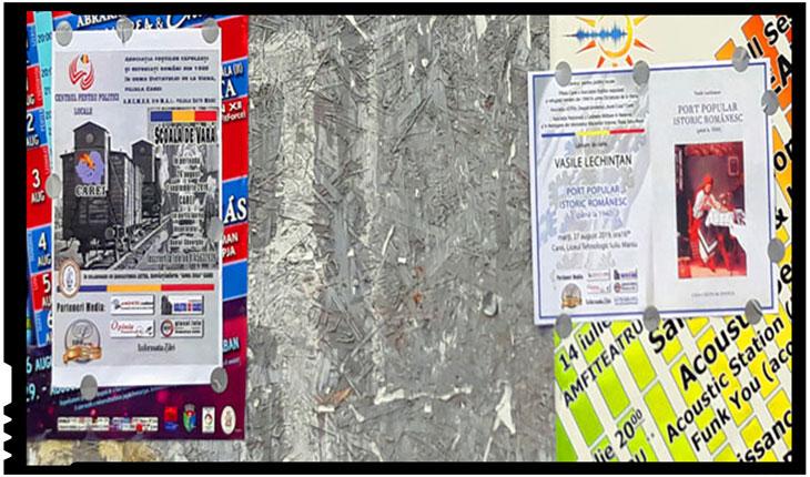 Comemorarea Dictatului de la Viena umbrită de vandalism: afișele Școlii de Vară rupte de persoane necunoscute