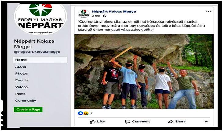 Salut nazist pe facebook din partea președintelui Partidului Popular Maghiar din Transilvania (PPMT), Foto: Facebook / Transindex