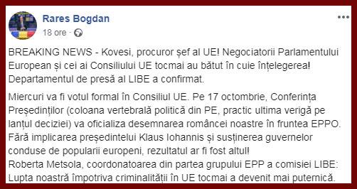 Rares Bogdan Kovesi UE