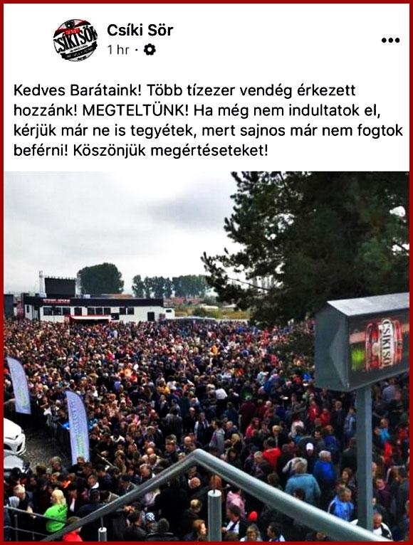 """Presa de limbă maghiară: """"Mai mulți secui adunați la o bere gratis decât la vizita Papei"""", Foto: Facebook"""
