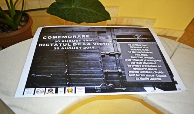 Emoție, românism și lacrimi, la comemorarea Dictatului de la Viena, la Muzeul de Istorie Satu Mare