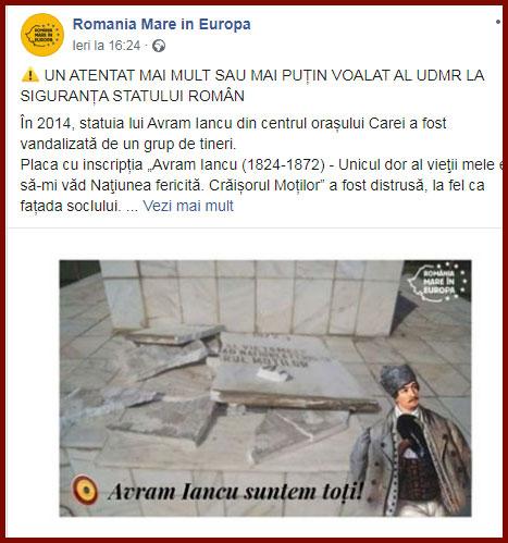 Foto: Facebook / România Mare în Europa
