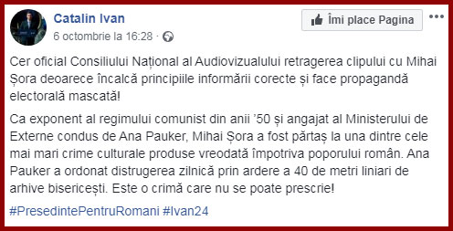 Foto: Facebook / Cătălin Ivan
