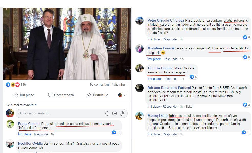 """Iohannis spurcat virtual de """"infatuați"""" și de """"fanaticii religioși""""! Comentarii acide la adresa """"marelui credincios care a boicotat referendumul pentru familie"""", Foto: Facebook / basilica.ro"""
