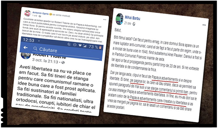 Boicotul împotriva eMAG se extinde și asupra Papaya Advertising! Românii revoltați de cuvintele lui Robert Tiderle, fondatorul Papaya Advertising