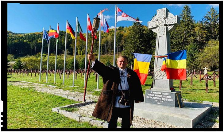 150 de Torțe pentru Eroii Români din Cimitirul Internațional al Eroilor Valea Uzului, Foto: Facebook / Mihai Tîrnoveanu