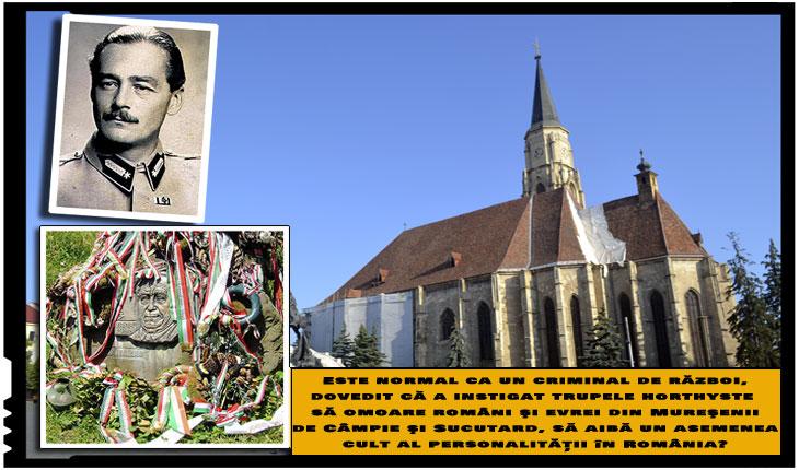 Biserica Sfântul Mihail din Cluj, loc de omagiere pentru comunitatea maghiară a unuia dintre cei mai odioși criminali de război