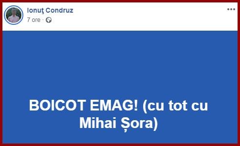 Boicotati eMAG, Foto: captura Facebook