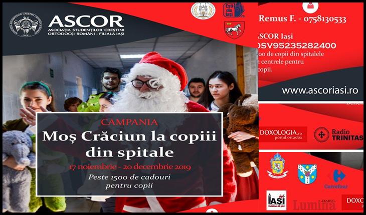 ASCOR Iași ajută și în acest an niște copii aflați în suferință să zâmbească de Crăciun, Foto: Facebook /ASCOR Iași