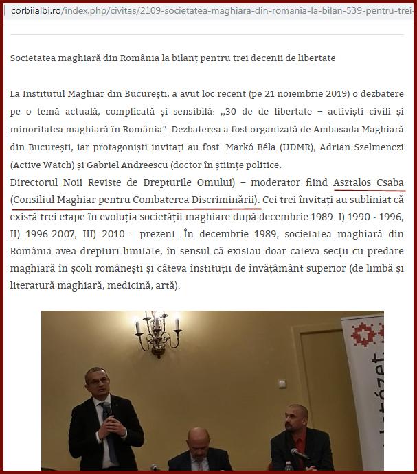 """Antiromânii de la Corbii Albi recunosc adevărul despre CNCD: de fapt acesta este """"Consiliul Maghiar pentru Combaterea Discriminării""""!?, Foto: captură corbiialbi.ro"""