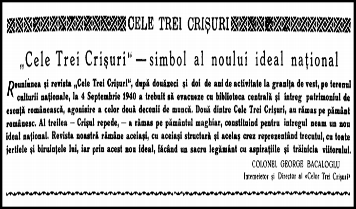 "Revista ""Cele Trei Crișuri"""