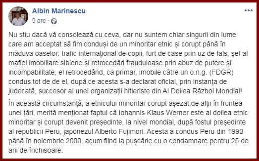 Foto: Facebook / Albin Marinescu