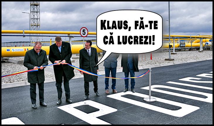"""După ani de zile de aruncat cu lături în PSD, Iohannis își arogă realizările ciumei roșii, în cadrul unor vizite de lucru """"ceaușiste"""", Foto original: presidency.ro"""