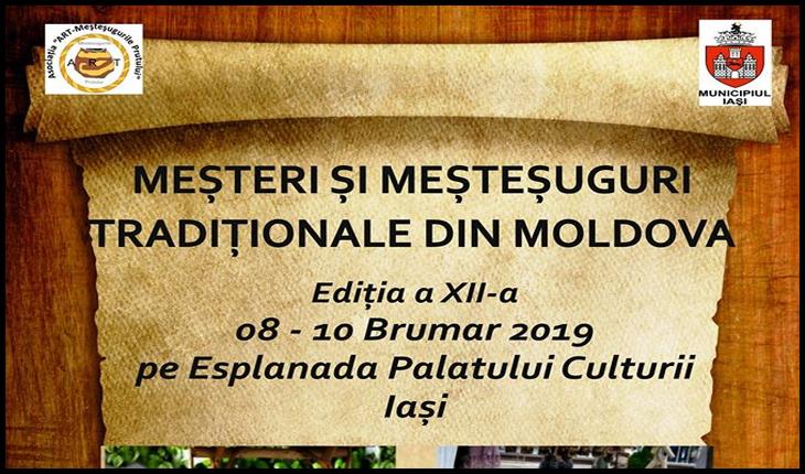 """În perioada 8 - 10 noiembrie 2019, are loc cea de-a XII-a ediție a manifestării cultural-interactive """"Meşteri şi meşteşuguri tradiţionale din Moldova"""", Foto: Facebook / Primăria Municipiului Iași"""