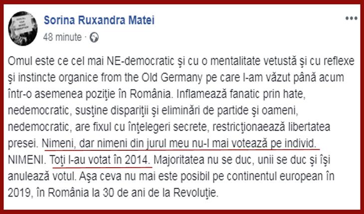Foto: Facebook / Sorina Ruxandra Matei