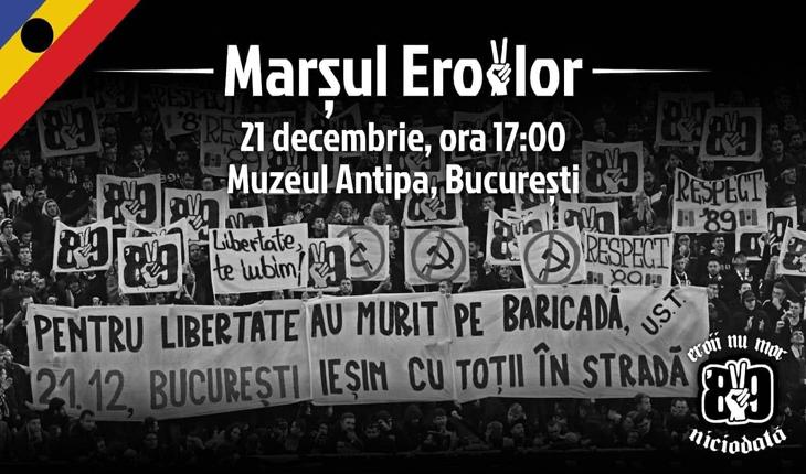 Tineri din întreaga țară comemorează Revoluția Română