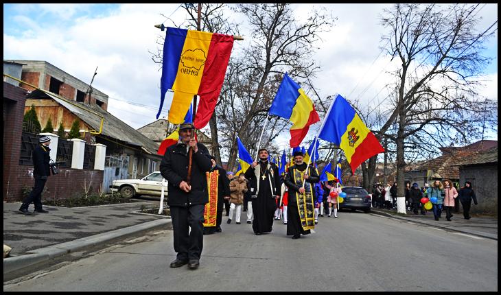 Marșul asociațiilor unioniste din RM și România prin Orhei de 1 Decembrie 2019