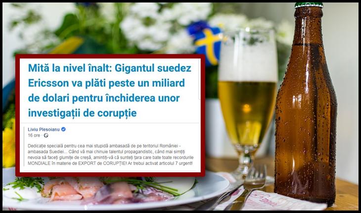 Suedia, curva care stă la masă cu corupția, dar dă altor țări lecții de anticorupție!, Foto: Facebook / Liviu Pleșoianu