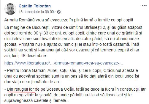 Foto: captură Facebook / Cătălin Tolontan