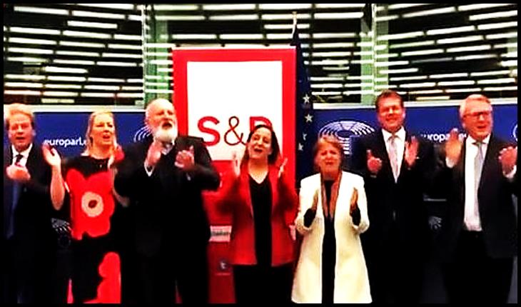 """UE(RSS)? Comisarii """"europeni"""", chefuri pe imnuri marxiste în Parlamentul European!?, Foto: captura youtube"""