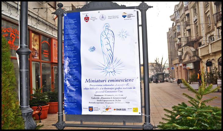 """Evenimentul """"Miniaturi eminesciene"""" la Galeriile """"Dumitru I Grumăzescu"""" de pe str. Lăpușneanu, Foto: Glasul.info"""
