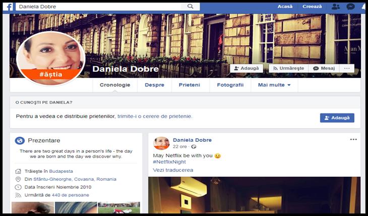 Foto: captură facebook / Daniela Dobre