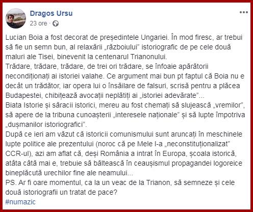 Un absolvent al Facultății de la U Babeș-Bolyai, în apărarea lui Lucian Boia