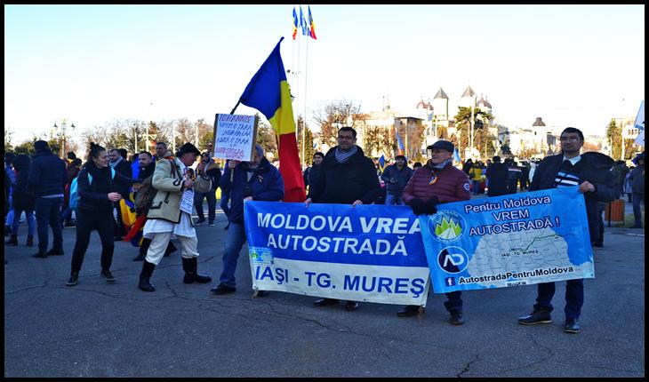 Protest la IAȘI împotriva lui Iohannis, 24 Ianuarie 2020
