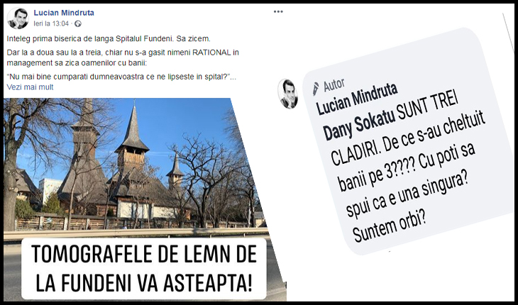 """Ura lui Mîndruță pentru biserici taxată public: """"Lucian Mindruță ar putea să primească și un spor pentru grad de handicap"""", Foto: captură facebook"""