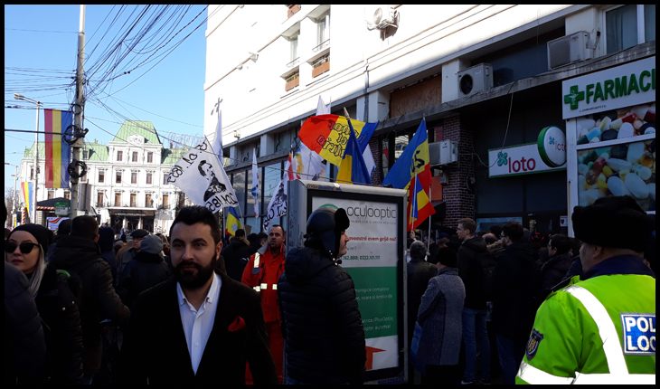 Piața Unirii din Iași confiscată de securimea și aplaudacii lui Iohannis