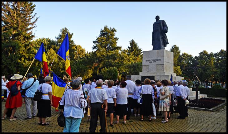 Monumentul lui Vasile Lucaciu de la Satu Mare, 30 august 2019, Foto: Glasul.info