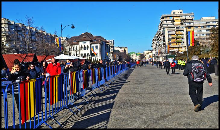 Kilometri de țarcuri metalice înguste la Iași de Ziua Unirii Principatelor, 24 Ianuarie 2020