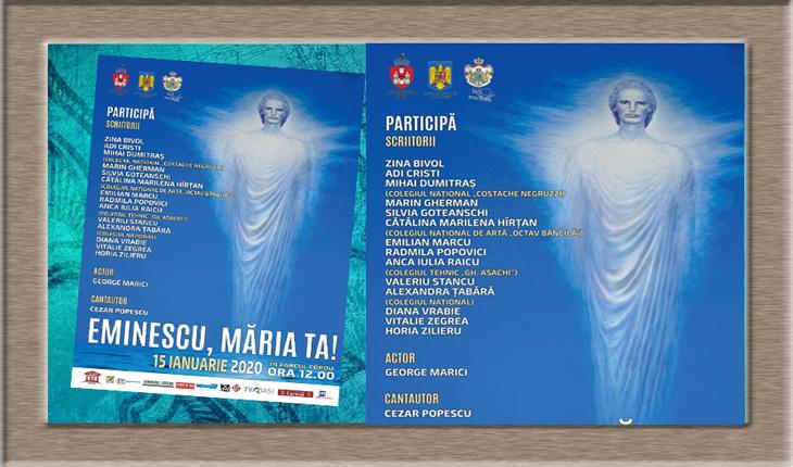 Scriitori români din Ucraina și Republica Moldova prezenți la IAȘI pentru a aniversa 170 de ani de la naşterea lui Eminescu, Foto: Facebook / Primăria Municipiului Iași