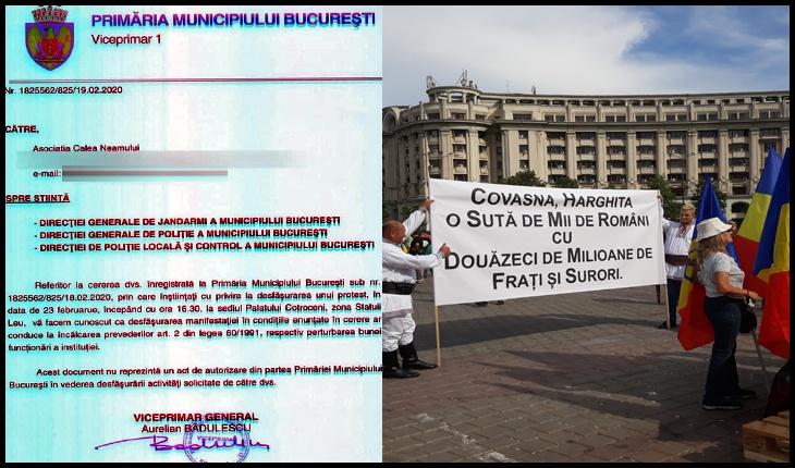 Primăria Municipiului București INTERZICE manifestarea din 23 februarie împotriva Codului Administrativ!