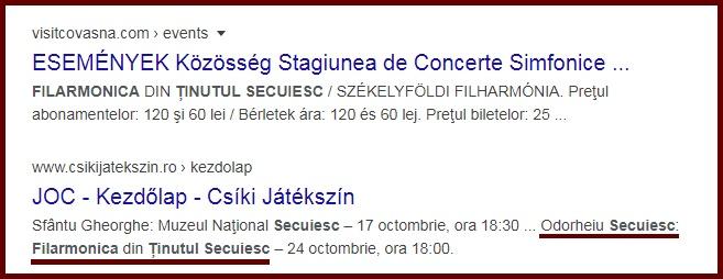 Filarmonica din Odorheiu Secuiesc este prezentată ca fiind Filarmonica din … Ținutul Secuiesc?