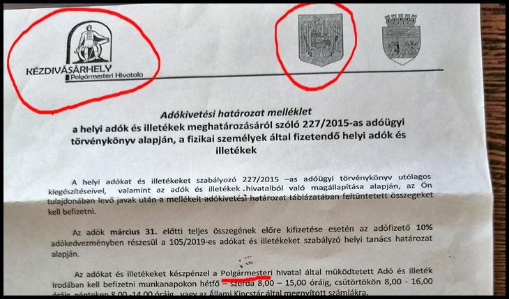 Notificarea de plată a impozitelor pe anul 2020 exclusiv în limba maghiară la Târgu Secuiesc