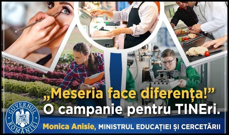 """Ministerul Educaţiei şi Cercetării lansează campania """"Meseria face diferența!"""", Foto: Facebook / acebook.com/www.edu.ro"""