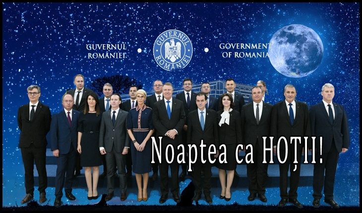 """Alina Teiş despre guvernul PNL: """"Dacă tot vorbeau de sloganul """"noaptea ca hoţii"""", se pare că acum lor li se potriveşte perfect"""", Foto original: gov.ro"""