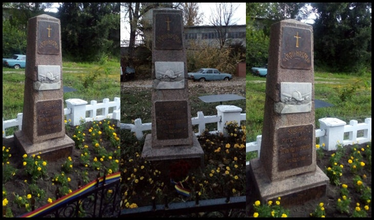 """Basarabia: Mormântul martirilor Unirii, împușcați de bolșevici, a ajuns în """"proprietate privată"""", Foto: Larisa Popovici"""
