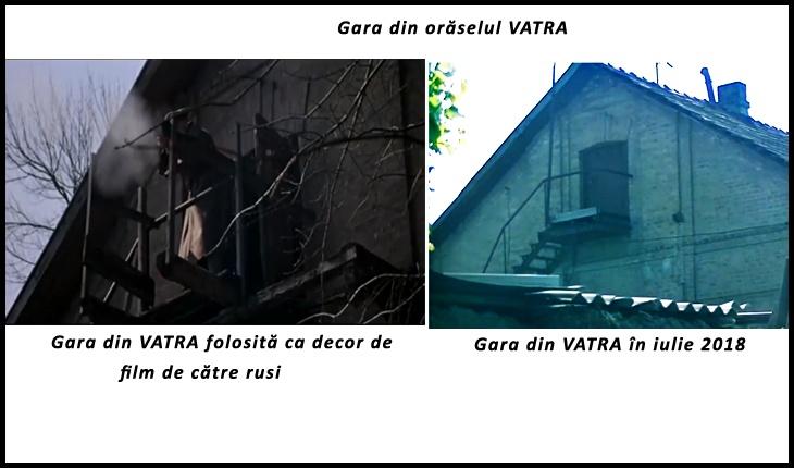 Gara din VATRA, în două ipostaze diferite, Foto: captură youtube