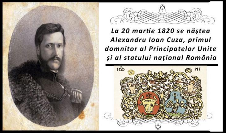 200 de ani de la nașterea lui Alexandru Ioan Cuza: La 20 martie 1820 se năștea Al. I. Cuza, primul domnitor al Principatelor Unite