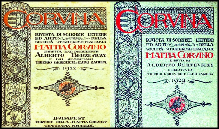 """Revista """"Corvina"""", organ al Societății Ungaro-Italiene """"Mattia Corvino"""""""