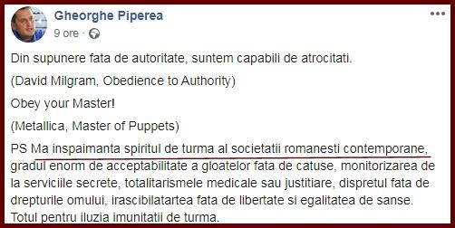 Foto: captură Facebook / Gheorghe Piperea