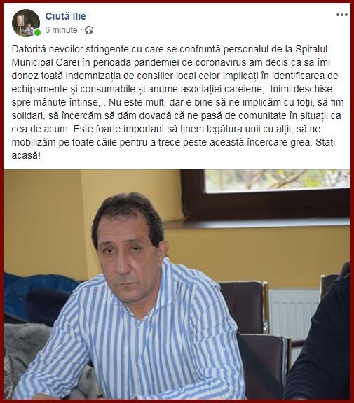 Foto: captură facebook / Ciută Ilie