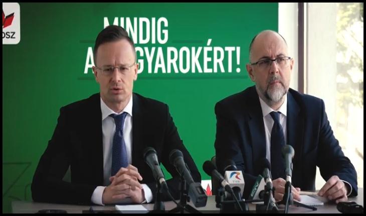Péter Szijjártó și Hunor Kelemen s-au intâlnit la Cluj pe 20 martie 2020, în plină criză a Coronavirusului, Foto: captură video Facebook