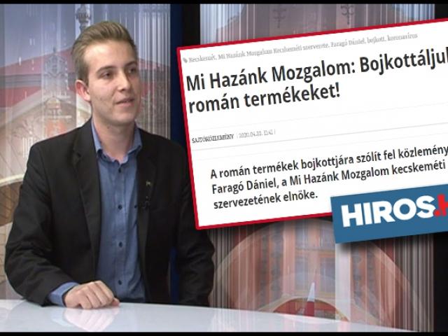 """Extremiștii unguri de la """"Mi Hazank"""" instigă la boicotul produselor românești, Foto: captură youtube / hiros.hu"""