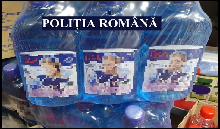 Nici farmaciile nu mai sunt ce-au fost: soluție de curățare vândută drept alcool sanitar, Foto: Facebook /Politia Romana