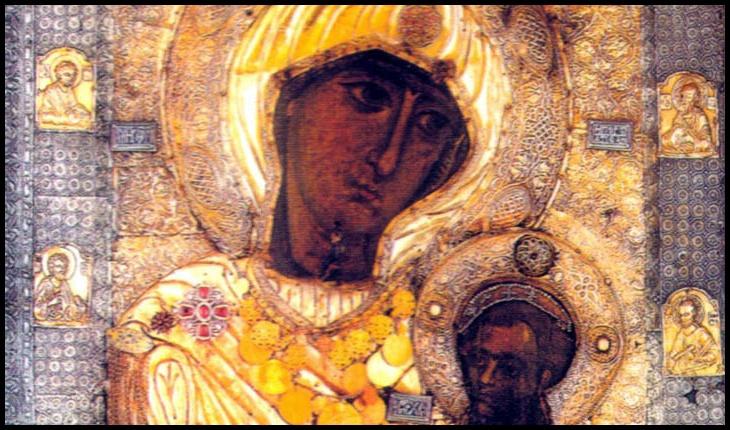 """Pe 16 aprilie 1004, în săptămâna Paștilor, călugării Mănăstirii Iviru vedeau Icoana """"Portărița"""" mergând pe apă"""