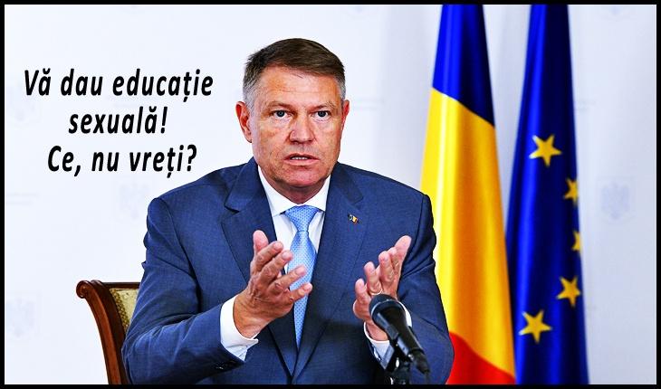 Țara-i pe butuci, dar Iohannis rostogolește tăvălugul neomarxist: a promulgat legea ce impune educația sexuală pentru copii, Foto: presidency.ro